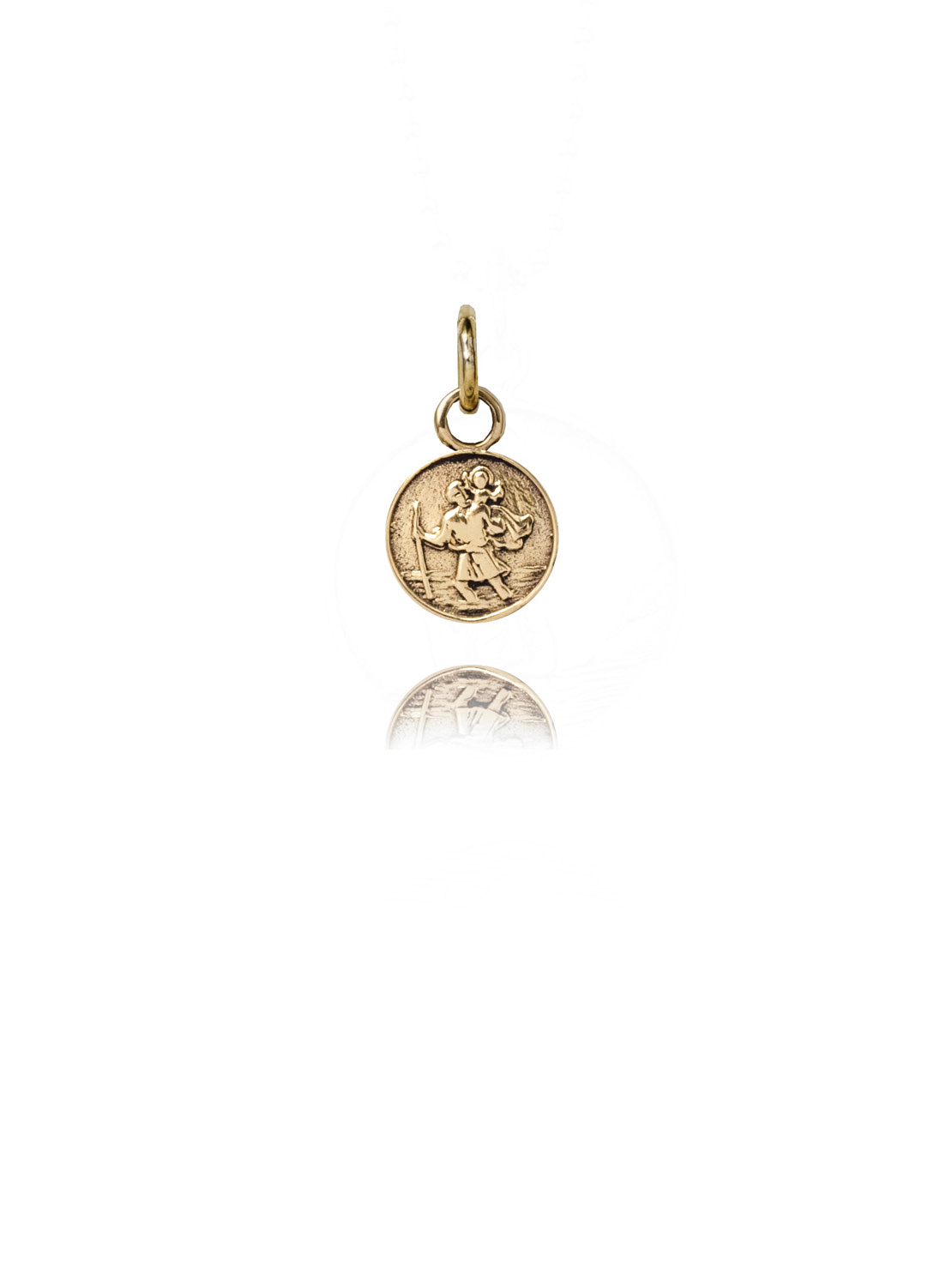 Small Gold St Christopher Charm