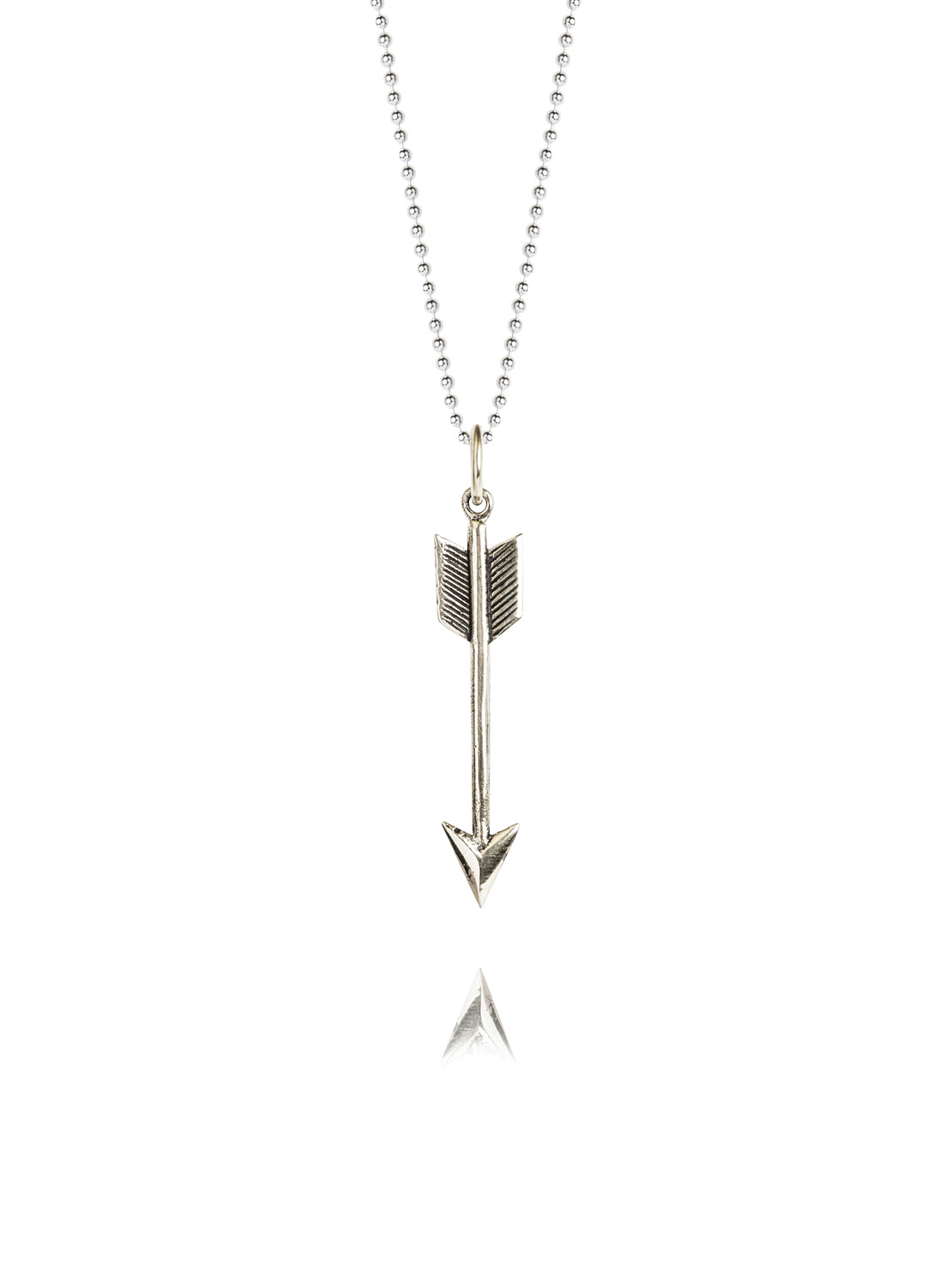 Small Silver Arrow On 45cm Chain