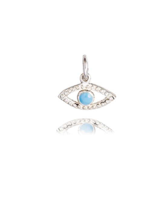 Small Silver Evil Eye Charm
