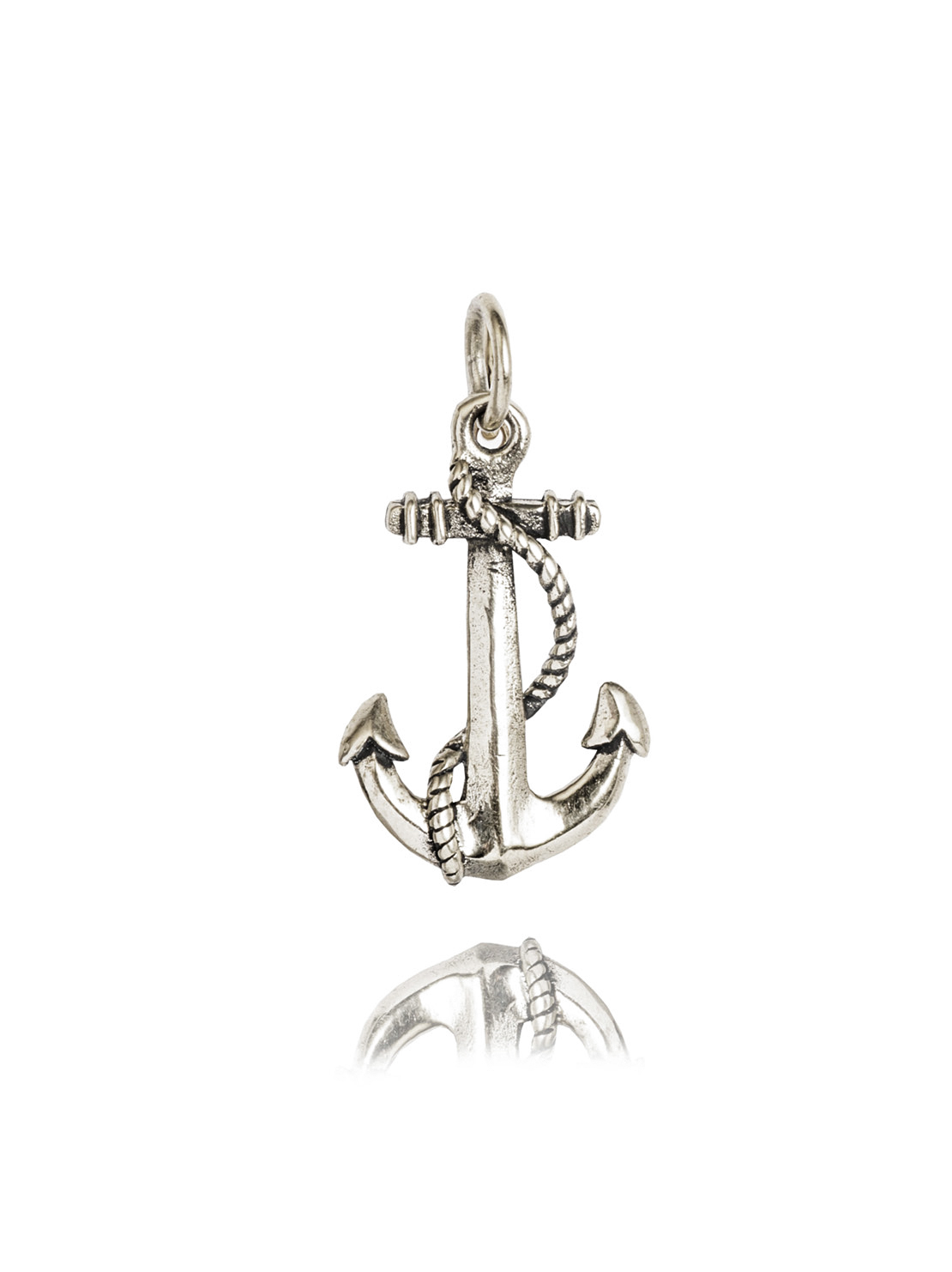 Small Silver Roped Anchor