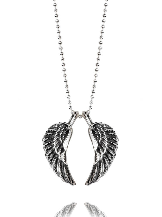 Small Silver Wing Necklace