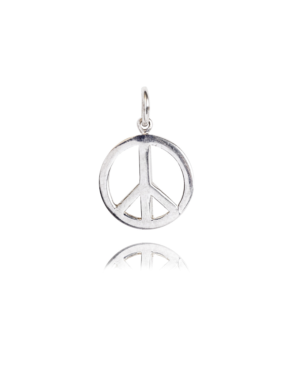 Sterling Silver Peace Sign