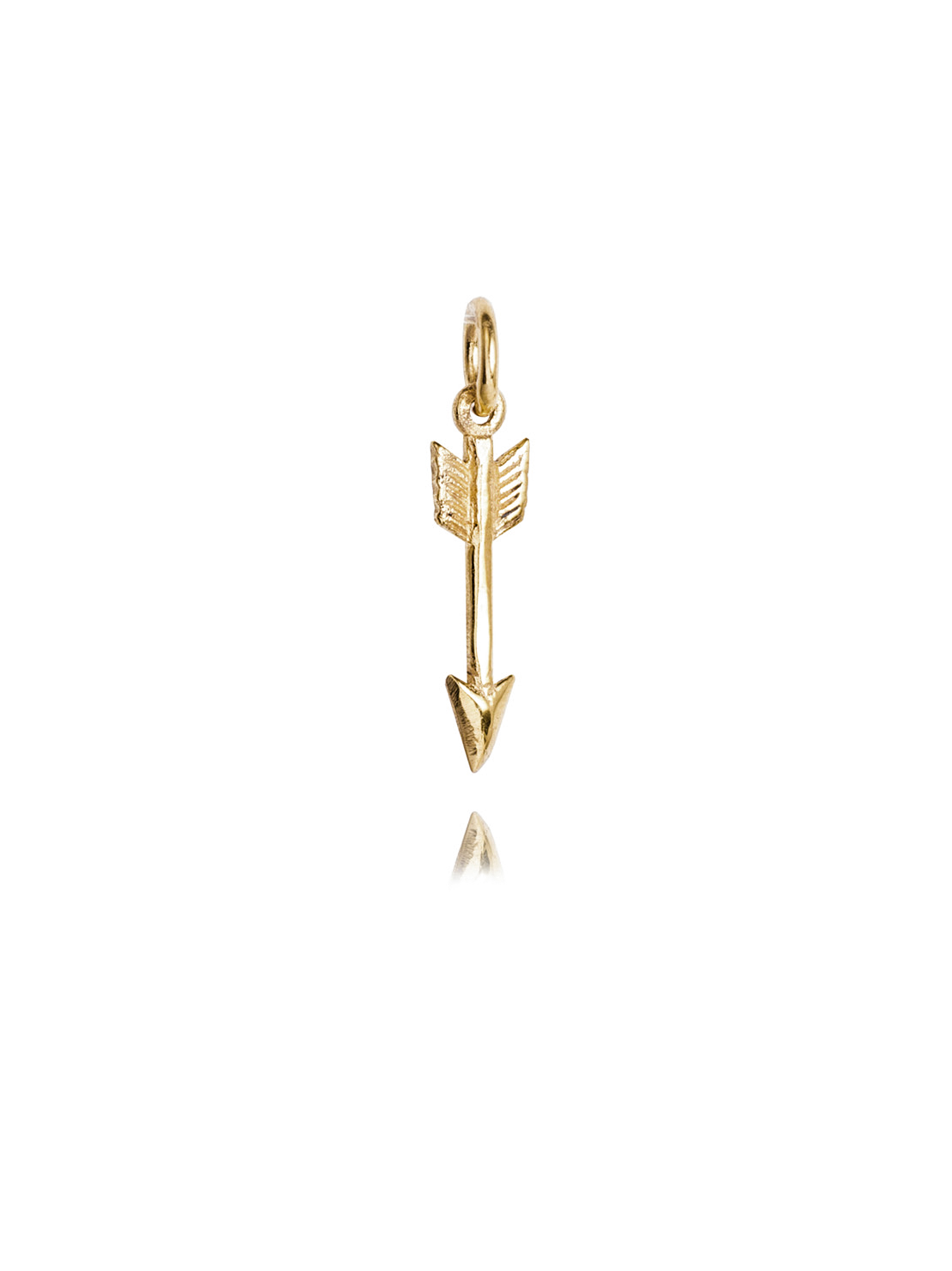 Tiny Brass Arrow Charm