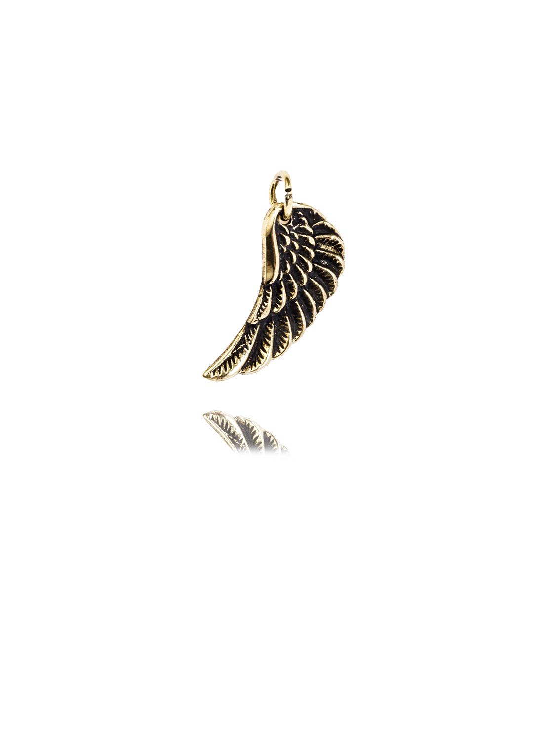 Tiny Brass Wing Charm