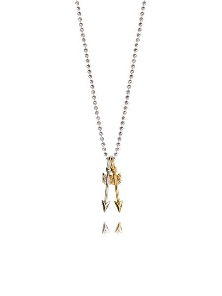 Tiny Double Arrow Necklace