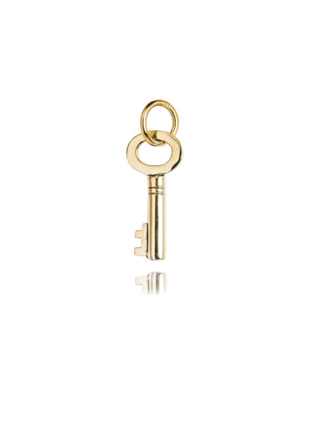 Tiny Gold Key Charm