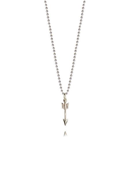Tiny Silver Arrow On 45cm Chain