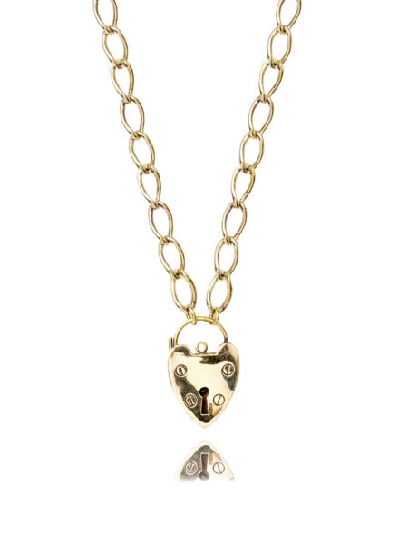 Xl Chunky Brass Heart Necklace