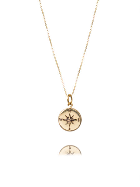 Fine Gold Compass Necklace