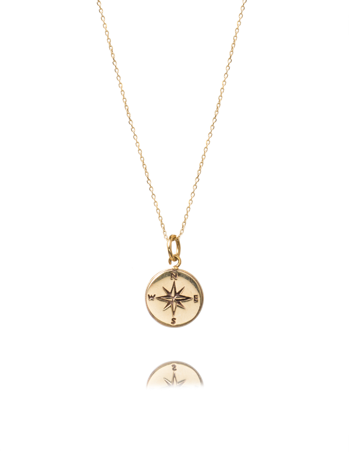 custom compass crystal with engravable birthstone pendant necklace