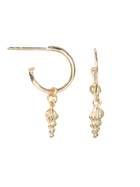 Gold Screw Shell Earring