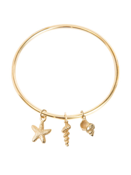Gold Shell Bangle