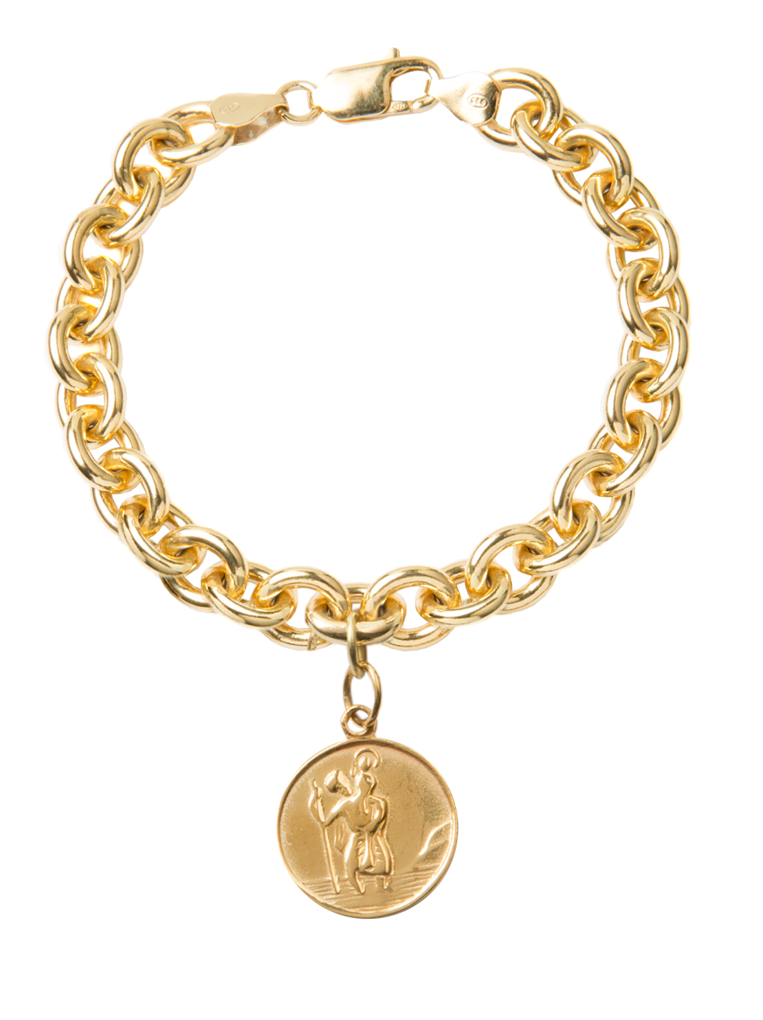 Gold St Christopher Bracelet