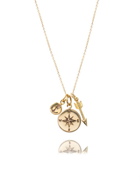 Gold Traveller Charm Necklace