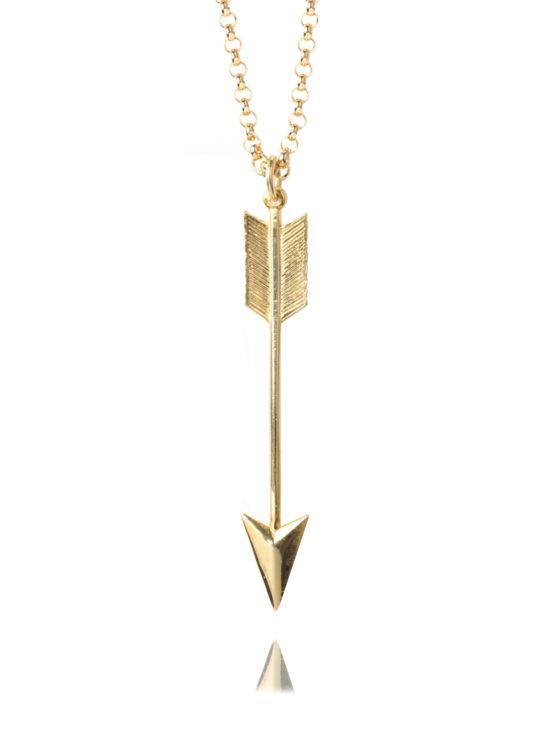 Large Gold Arrow Necklace