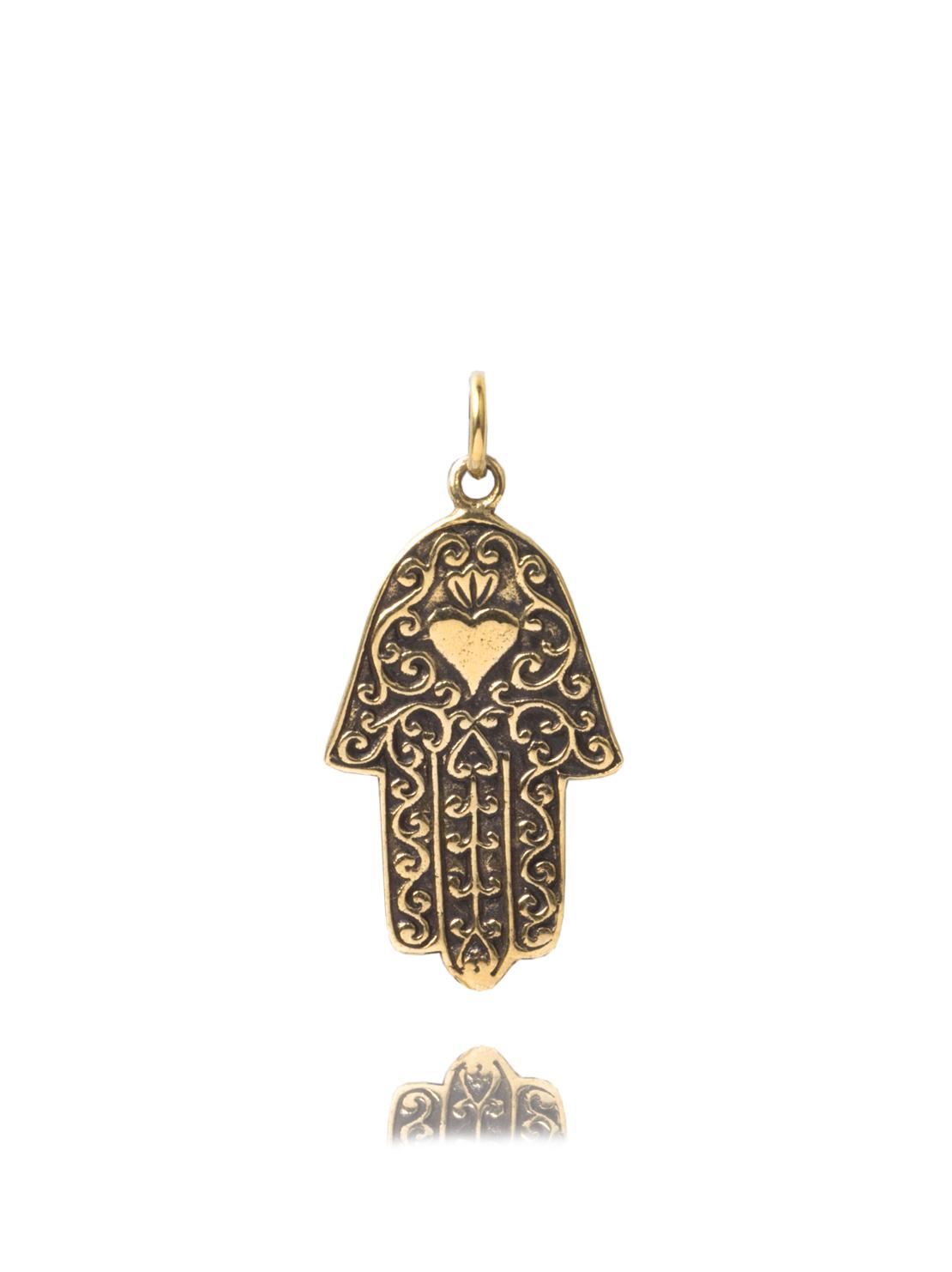 Original Brass Fatima Hand Charm