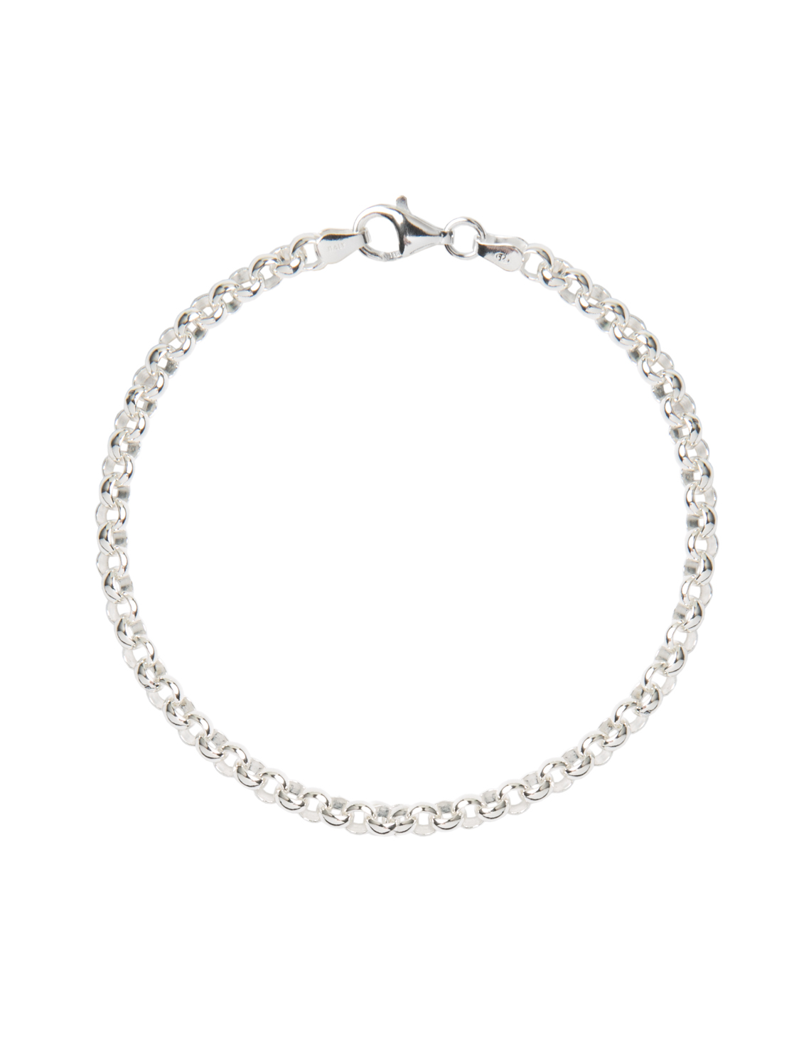 Silver Chunky Linked Bracelet