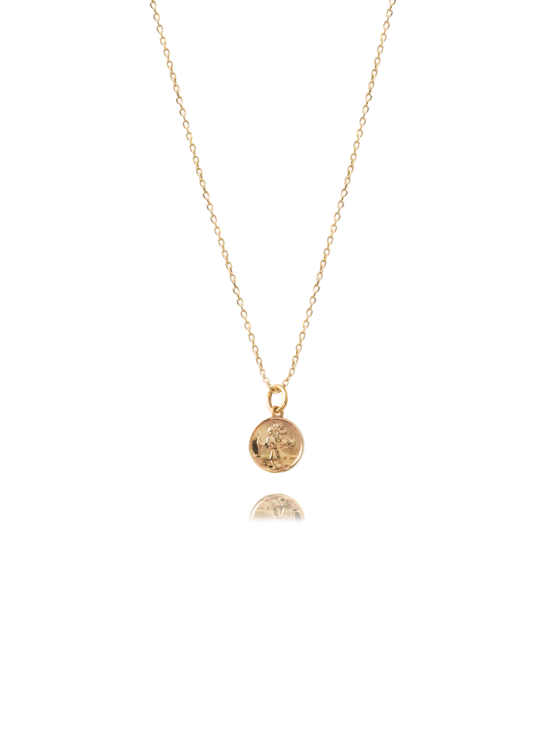 Small Gold St Christopher Necklace
