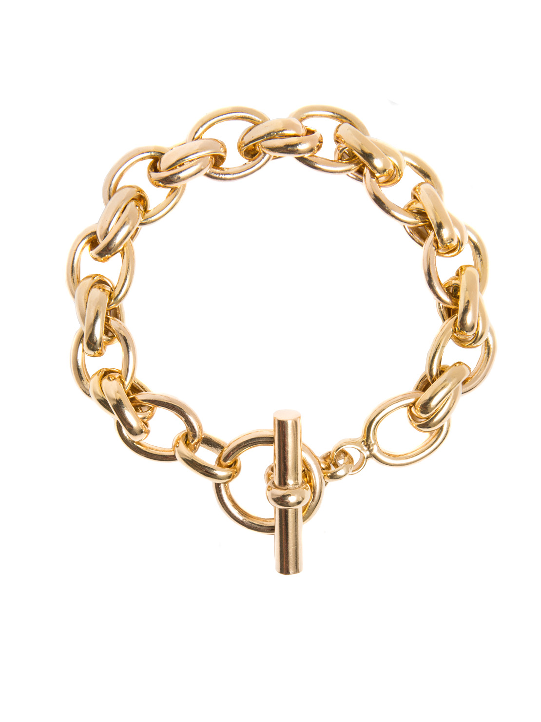 Large Gold Double Linked Bracelet