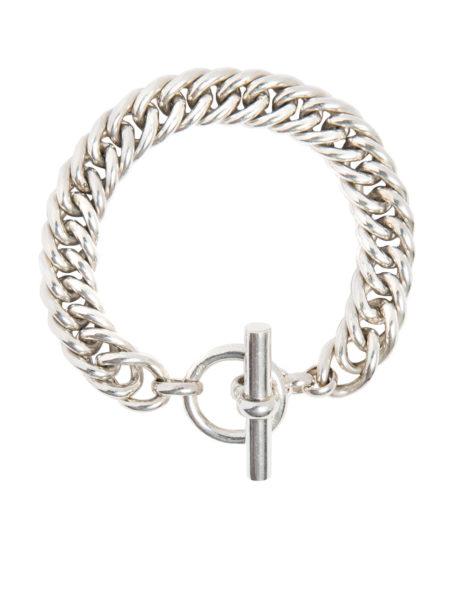 Large Silver Curb Linked Bracelet