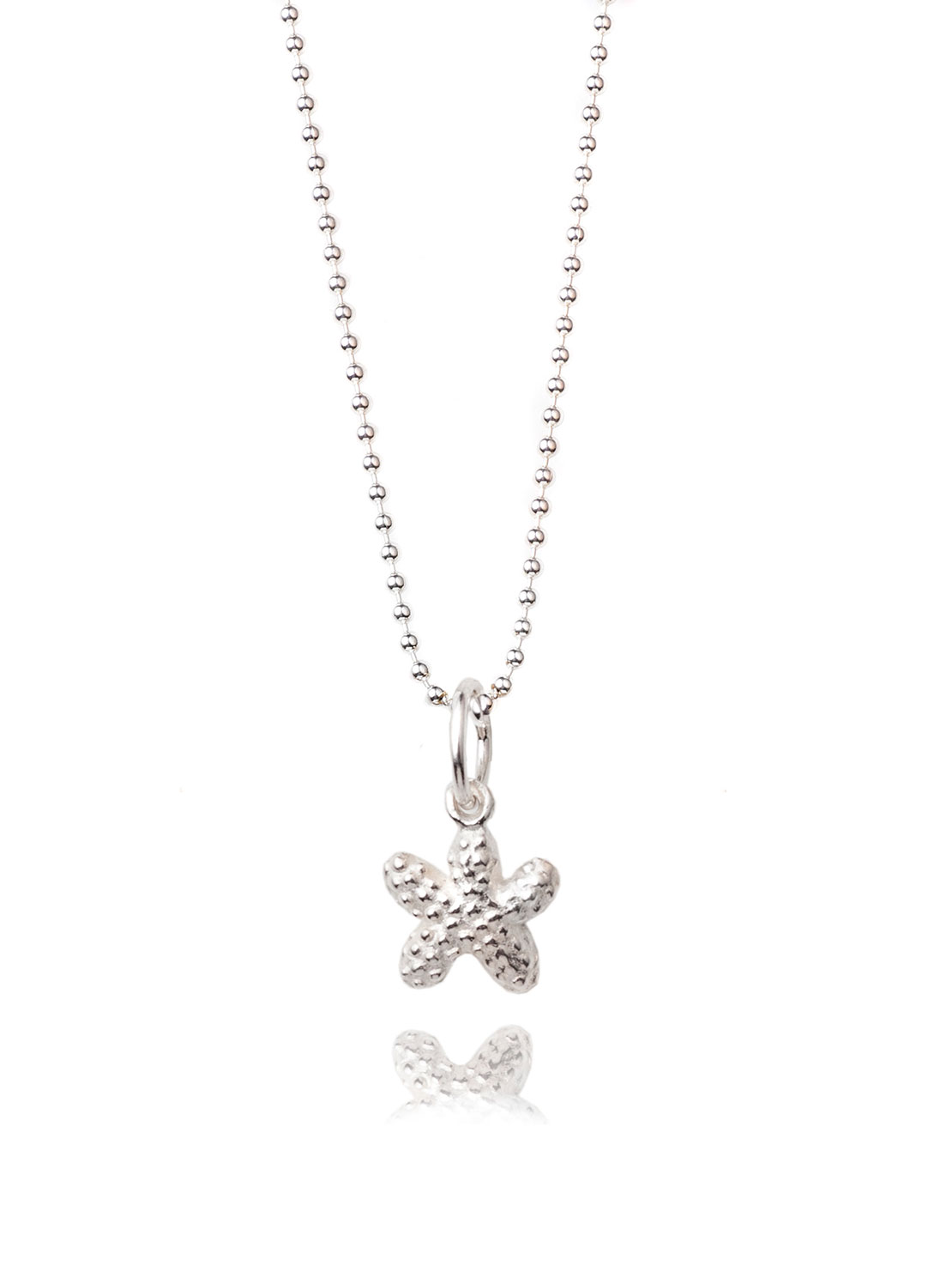 Tiny Silver Starfish Necklace