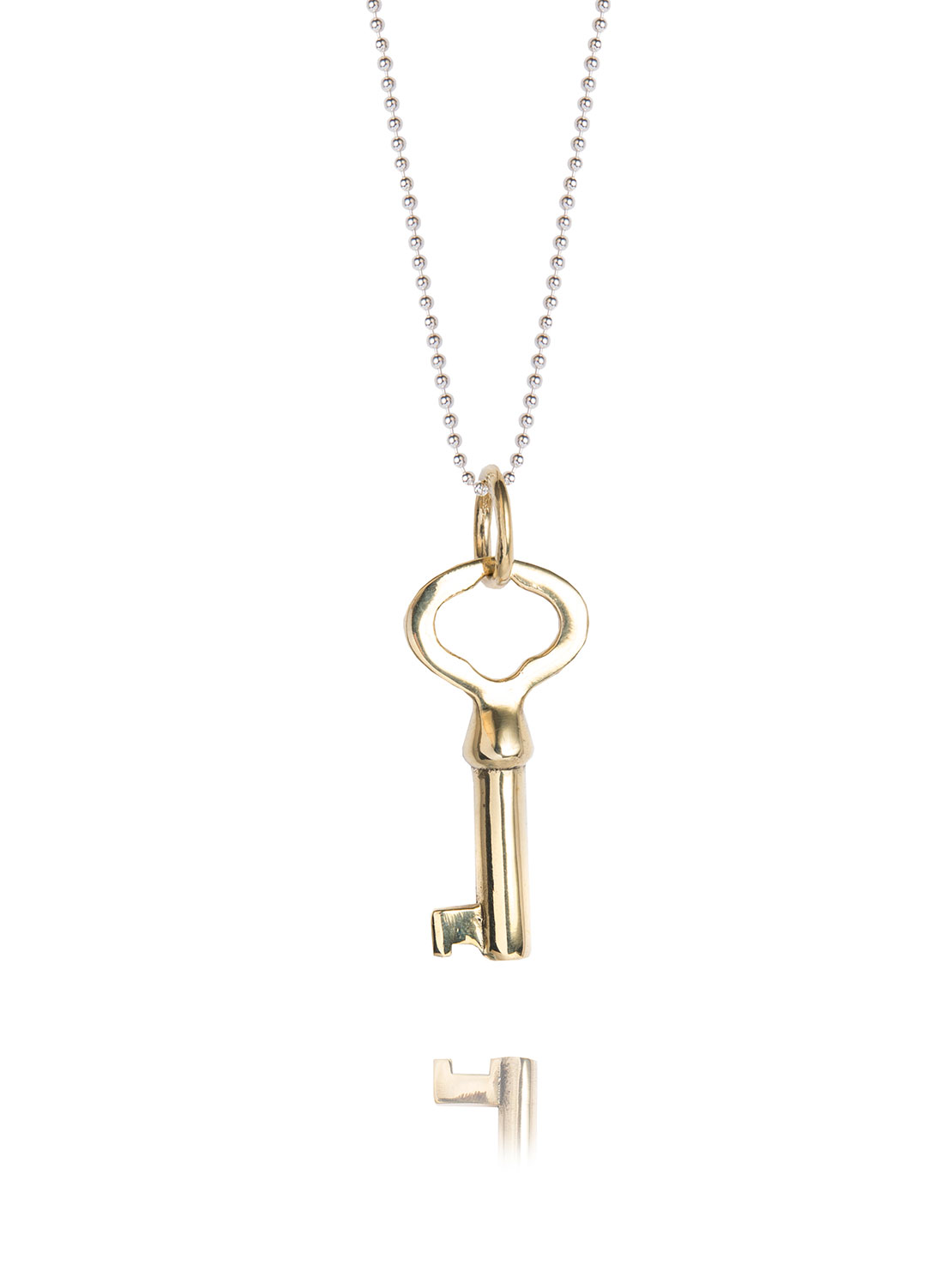 small gold key necklace tilly sveaas jewellery