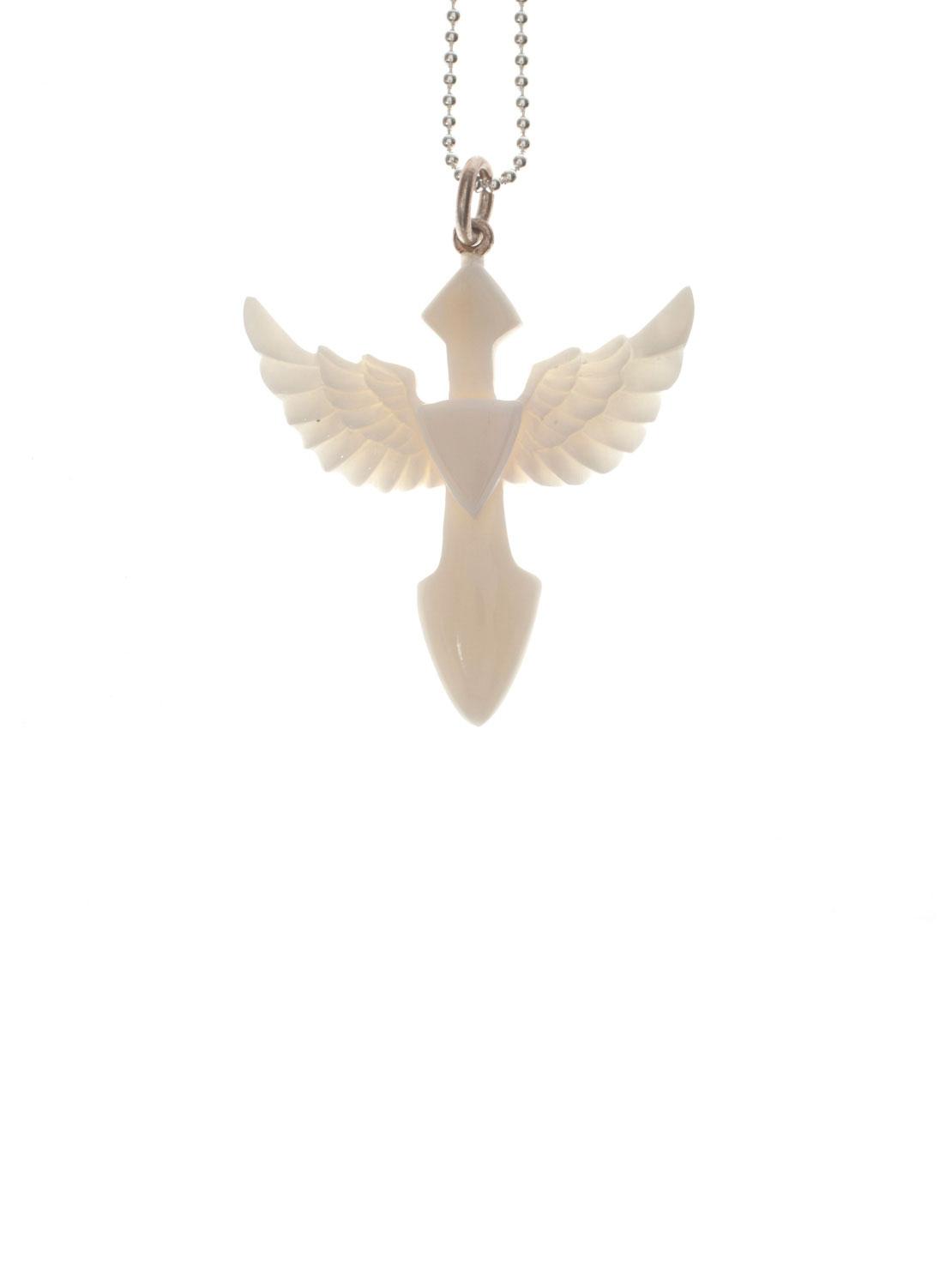 Bone Feathered Necklace