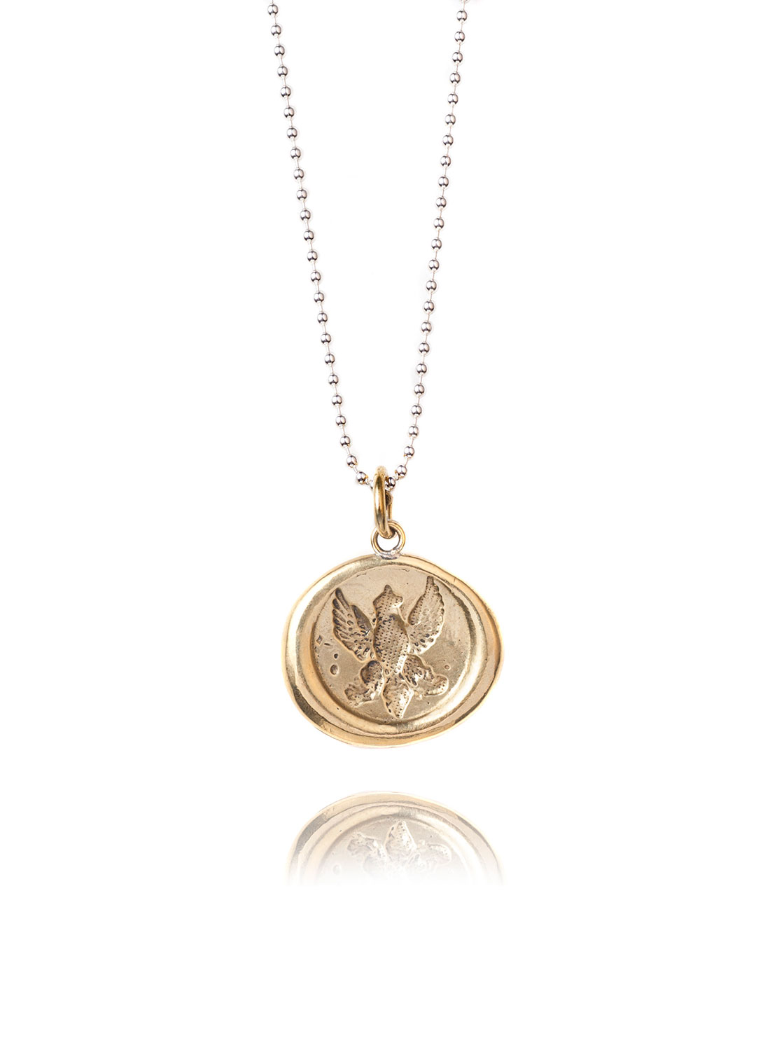 Gold Wax Seal Necklace
