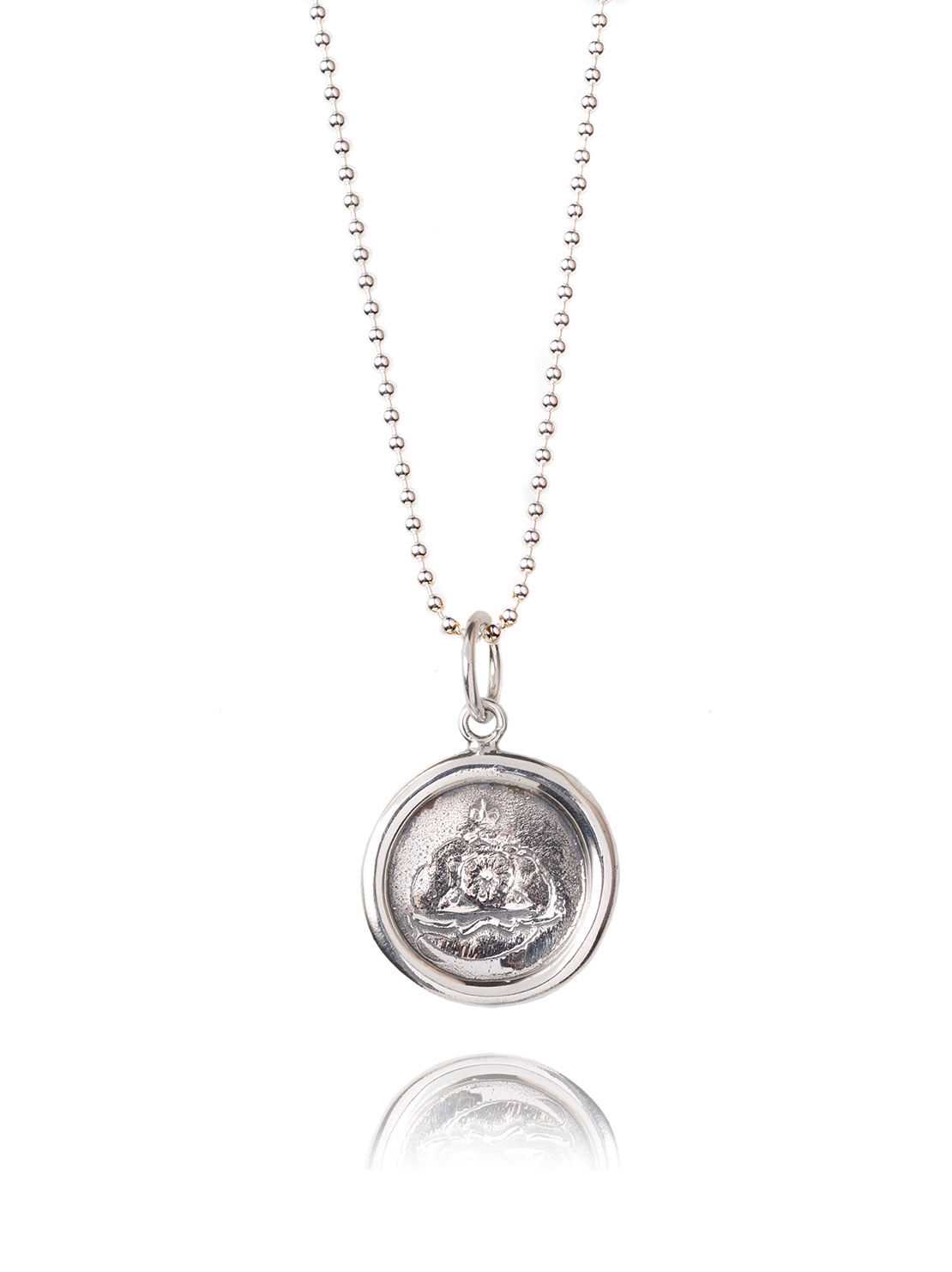 Small Silver Wax Seal Necklace