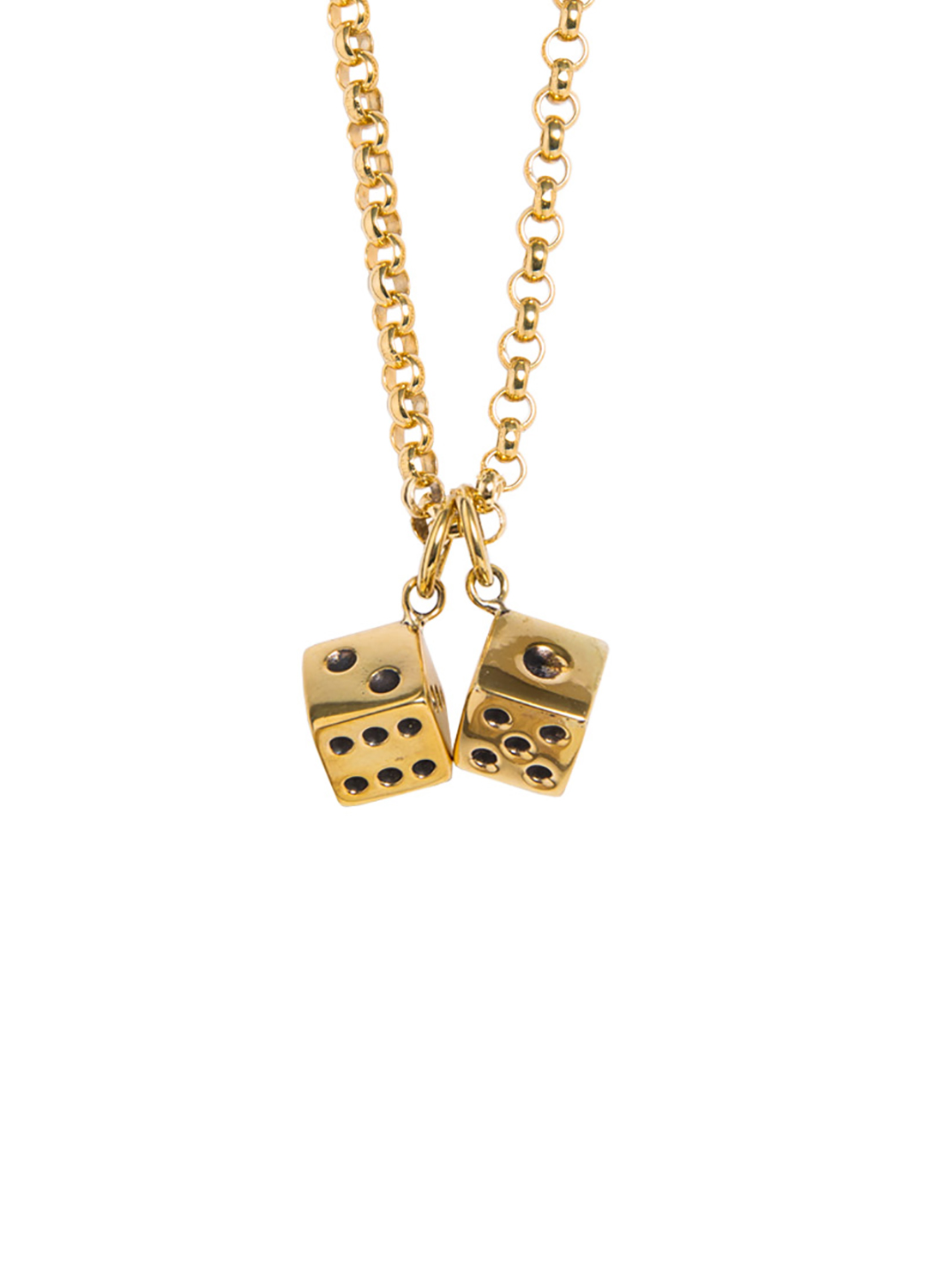 Necklace With Large Double Dice