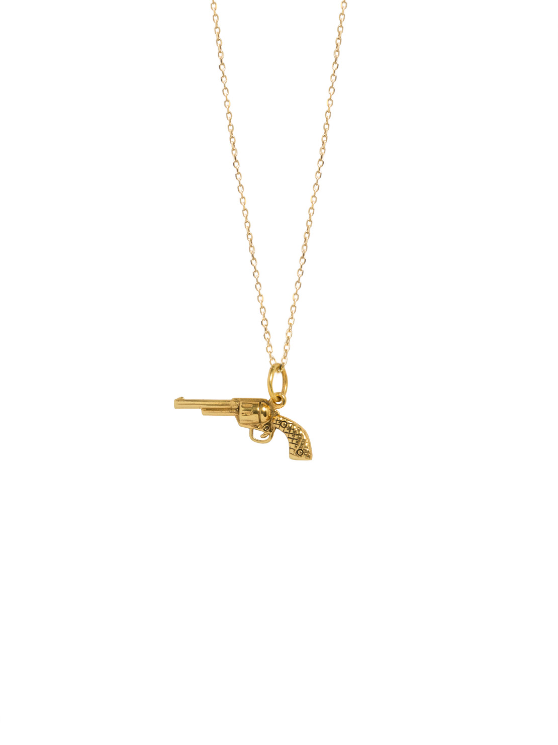 Gold Gun On Trace Chain