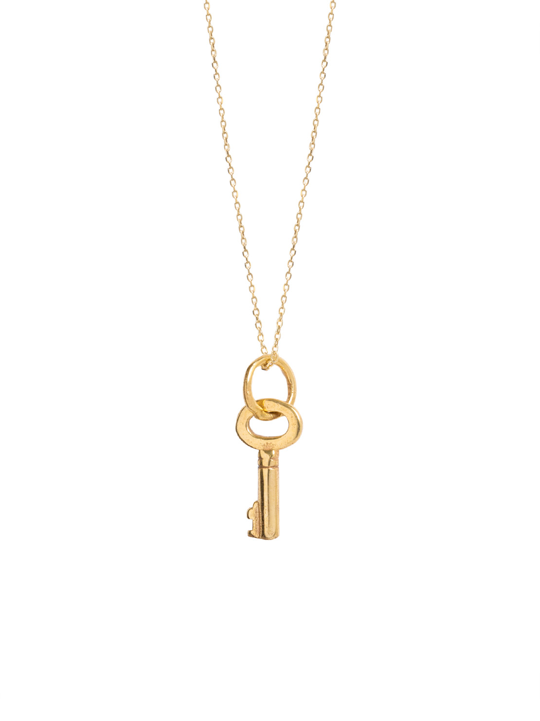 Tiny Gold Key On Trace Chain