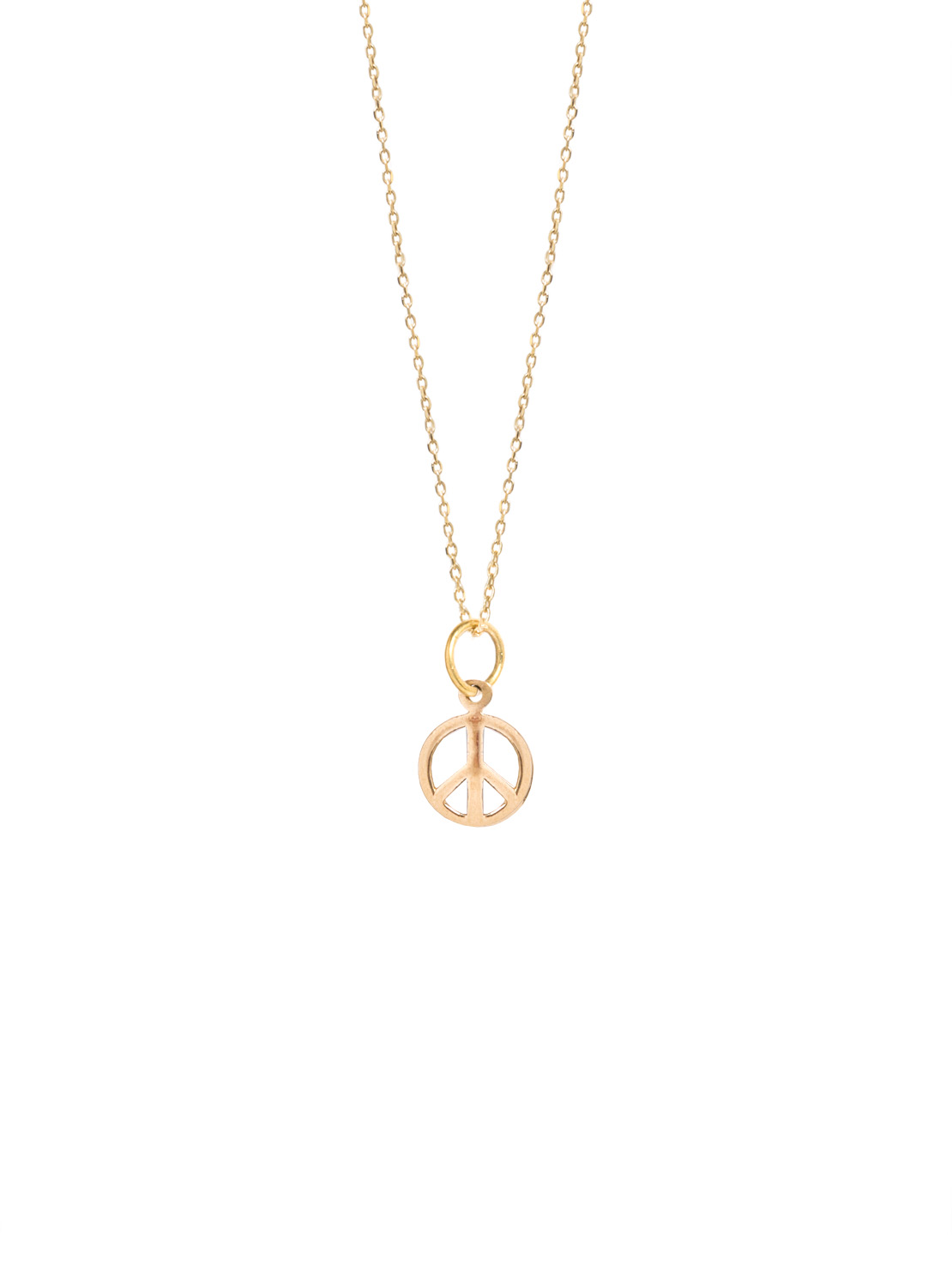 Tiny Gold Peace Sign On Trace Chain