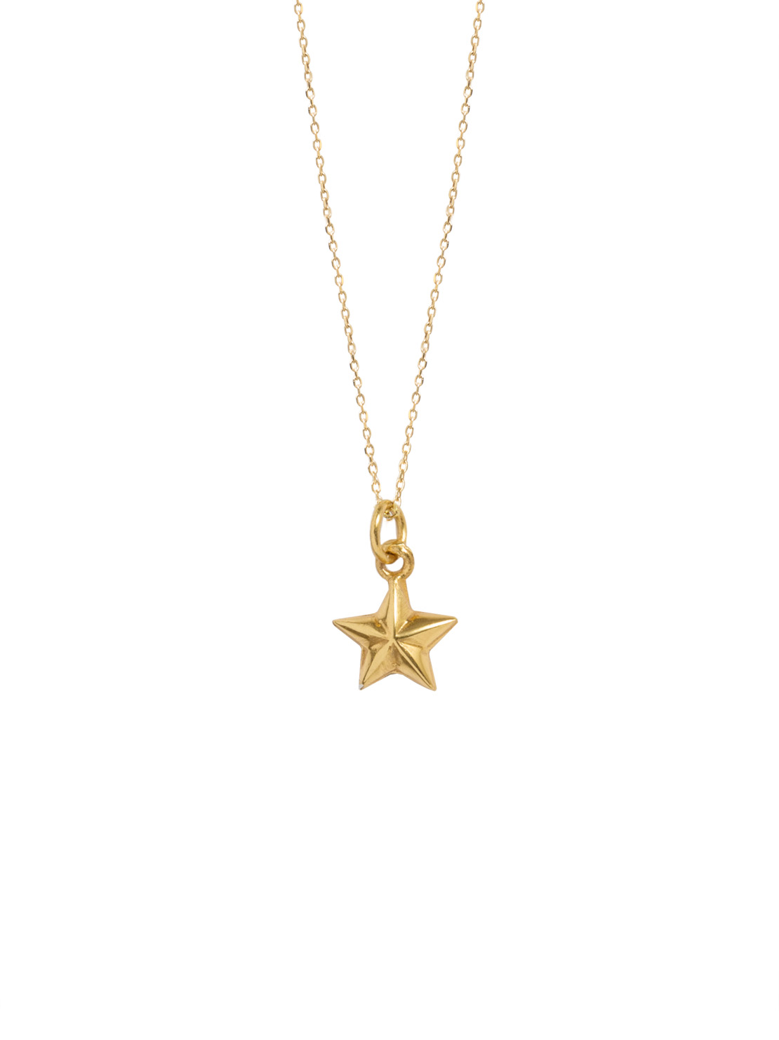 gold necklace star necklaces tiny image vermeil muru jewellery hope