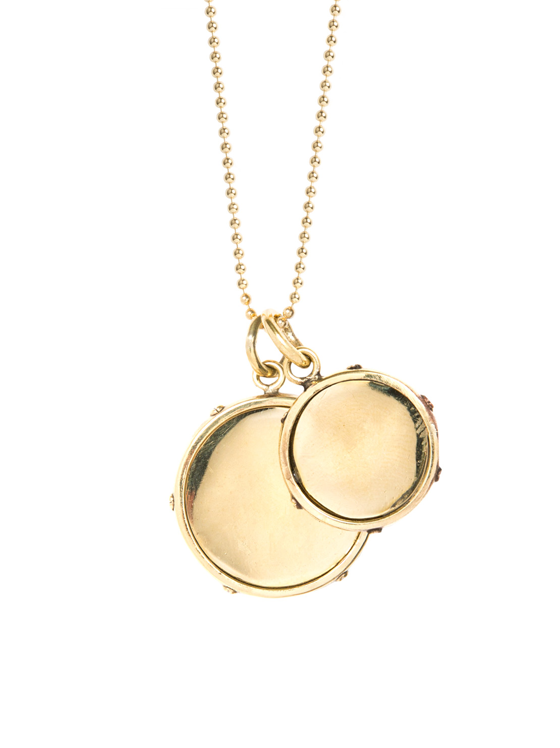 Double Gold Disc Necklace