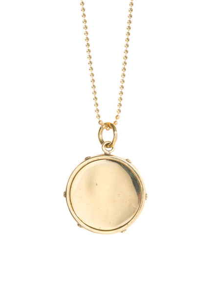 Large Gold Disc Necklace
