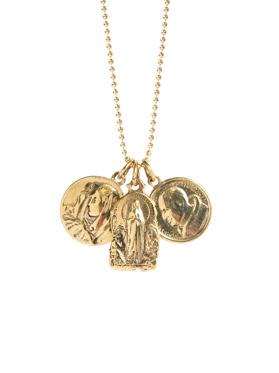 Triple Religious Icon Necklace