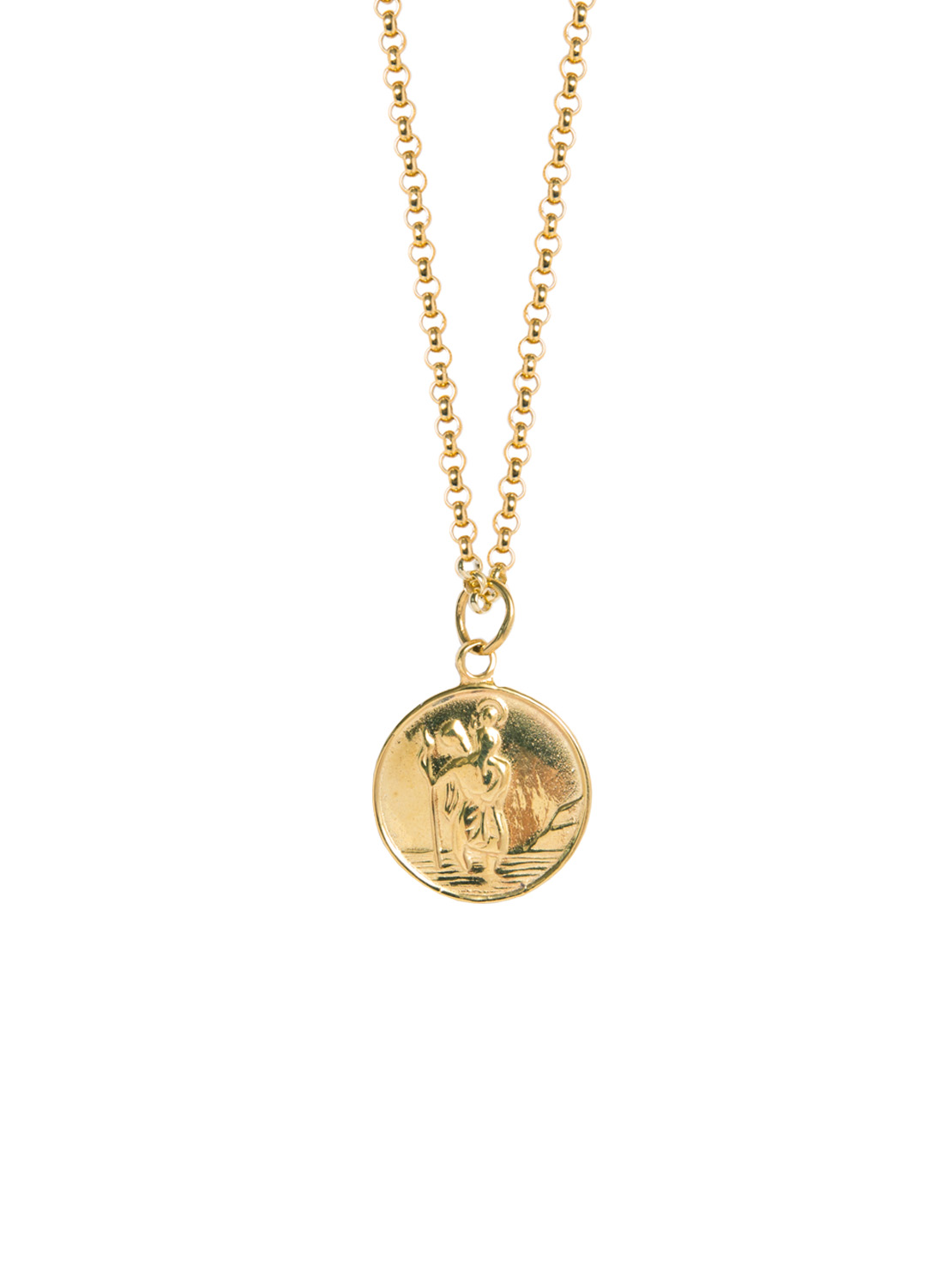 27695c3779d Large Gold St Christopher Necklace - Tilly Sveaas Jewellery