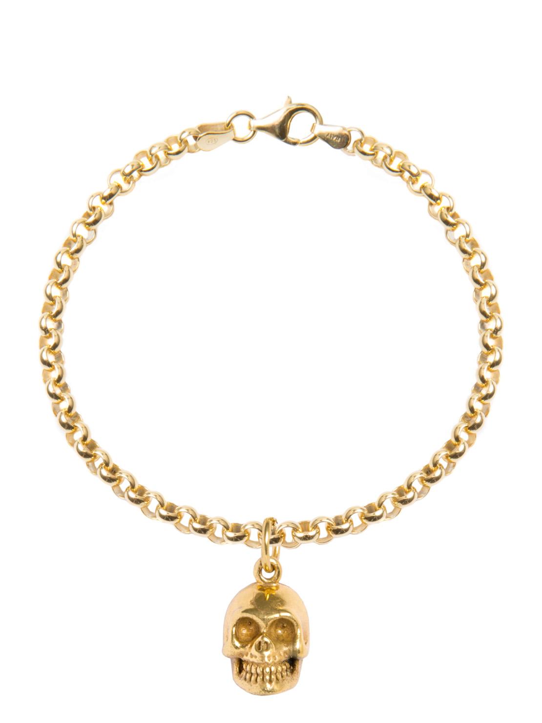 Gold Skull Bracelet