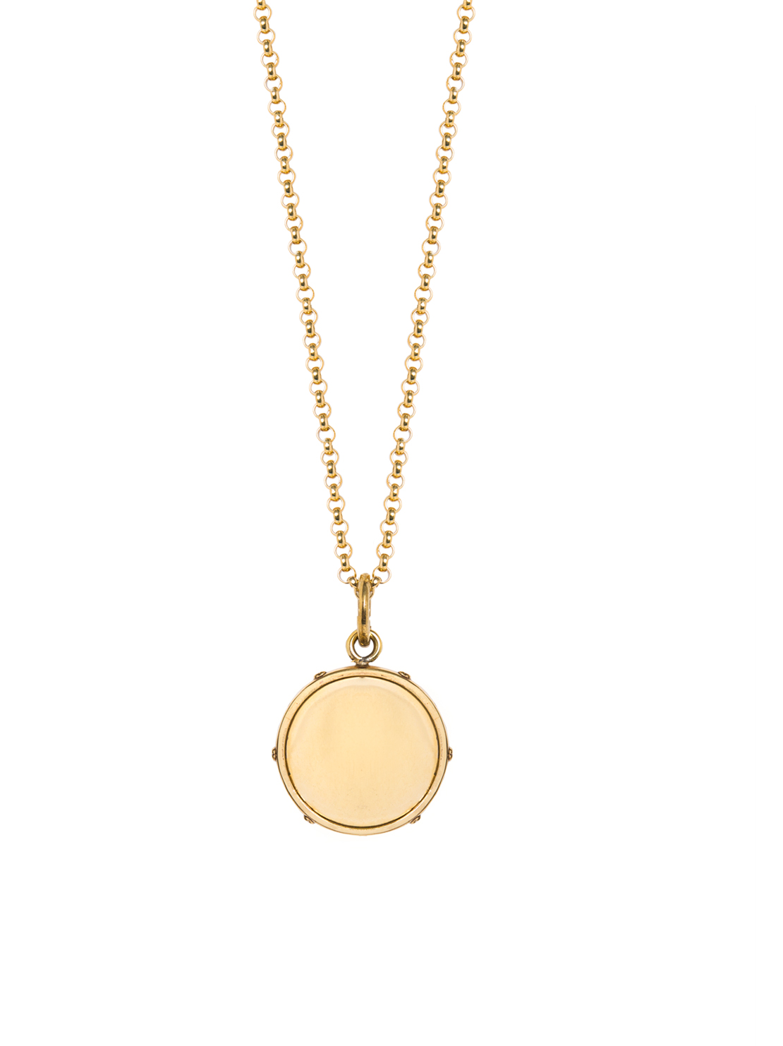 Medium Gold Disc On Belcher Chain
