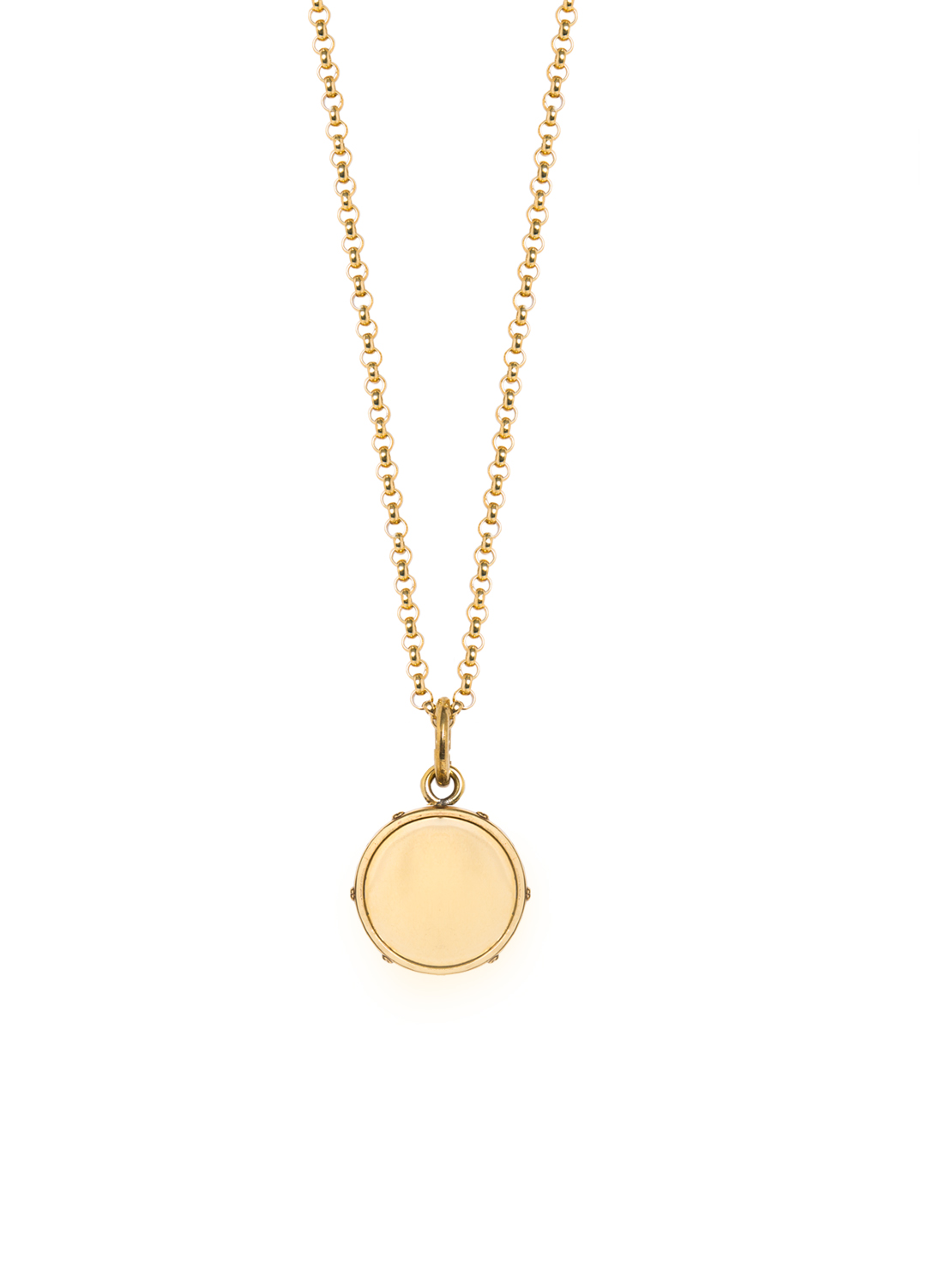 Small Gold Disc On Belcher Chain