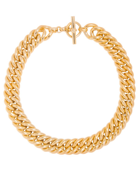 Giant Gold Curb Chain Necklace