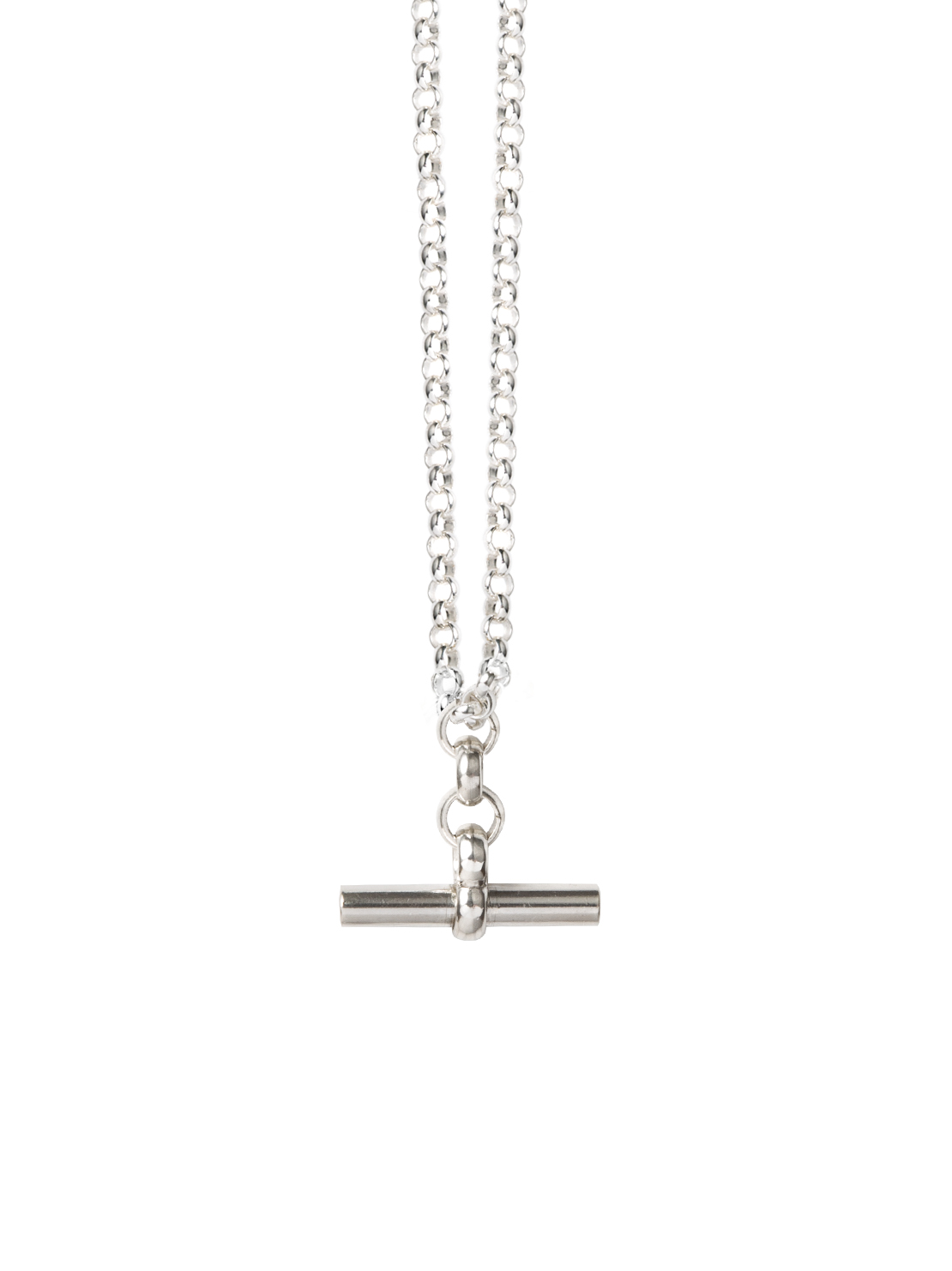 Silver T-Bar Necklace