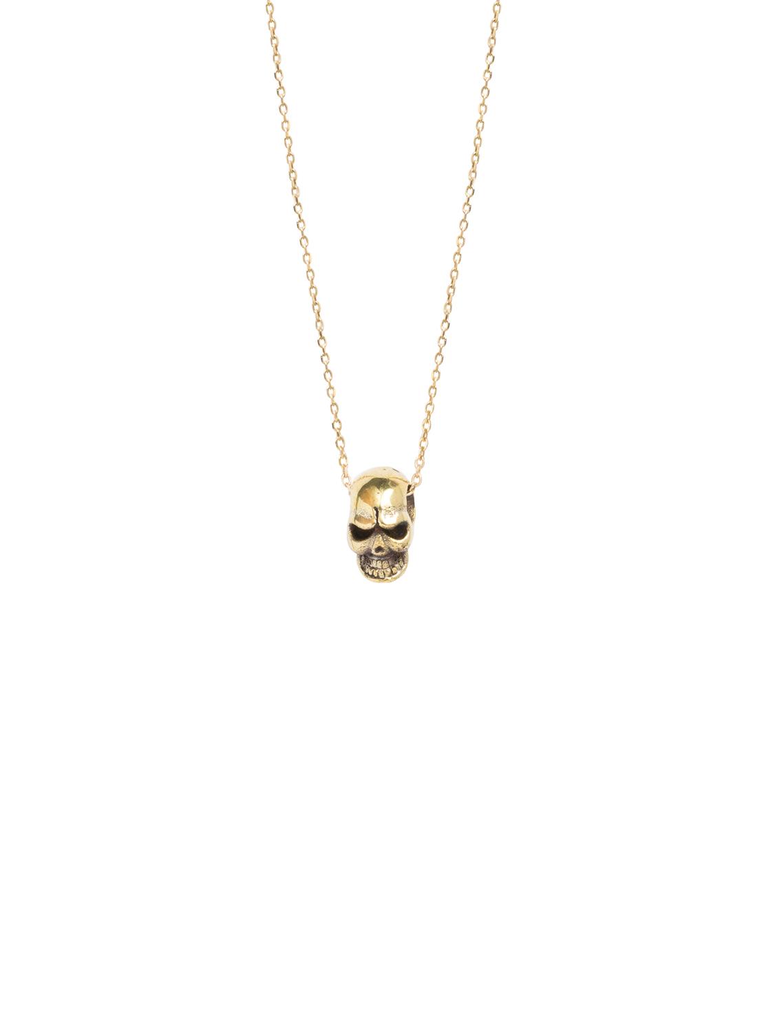 d6d2b382eee Gold Skull Necklace - Tilly Sveaas Jewellery