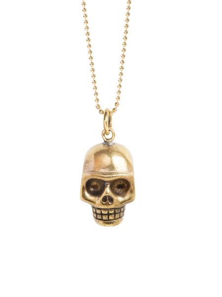 Large Gold Skull Necklace