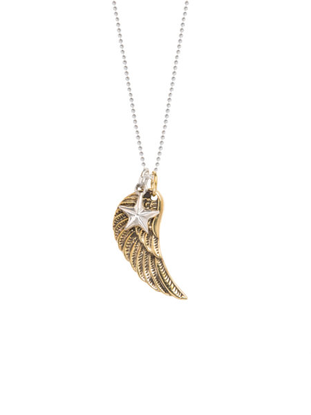 Wing And Star Charm Necklace