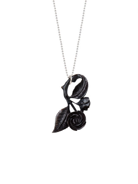Horn Rose Necklace