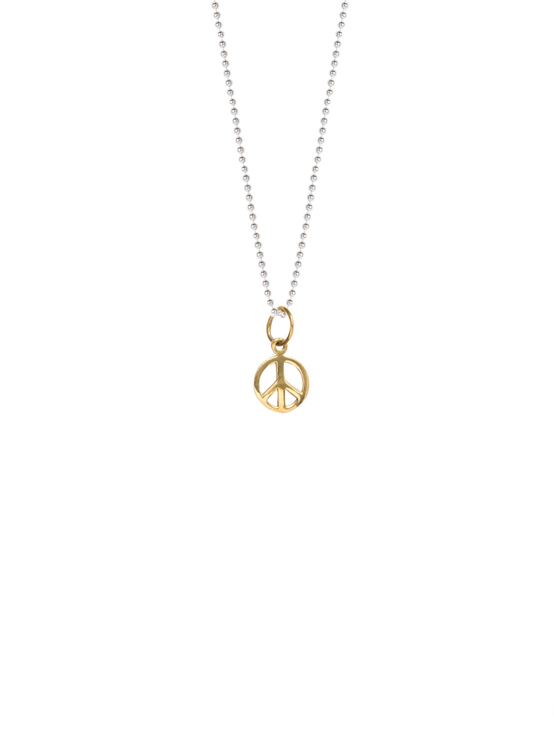 70860de598b Brass Peace Sign Necklace - Tilly Sveaas Jewellery