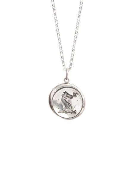 Silver Wax Seal Necklace