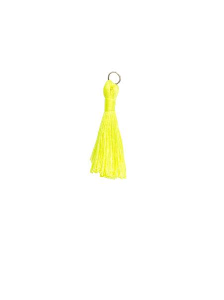 Small Neon Yellow Tassel